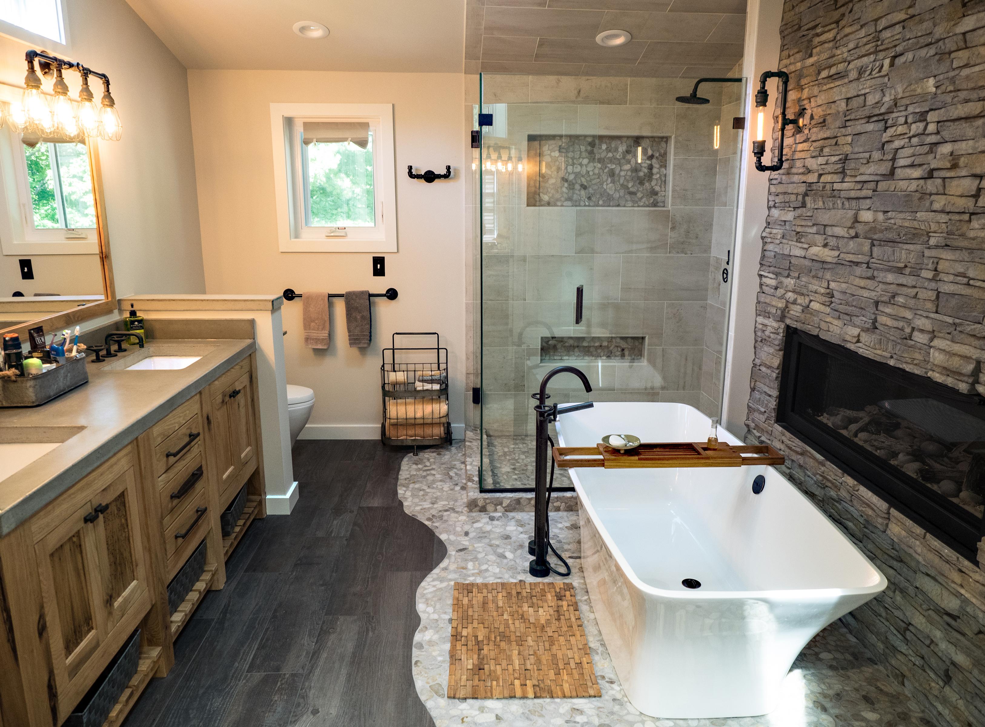 Complete bathroom renovation custom bath shower design for Creative renovations